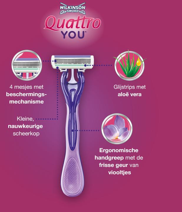 Wilkinson Sword Quattro For Women Sensitive disposable
