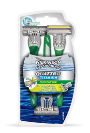 Wilkinson Sword Quattro Titanium Sensitive disposable razor