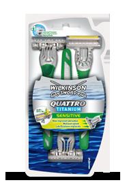 Wilkinson Sword Quattro Titanium Sensitive disposable razor
